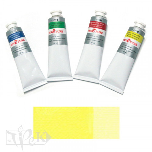 Масляная краска 60 мл 022 желтая светлая Van Pure