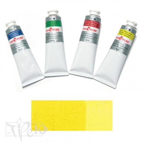Масляная краска 60 мл 023 желтая средняя Van Pure