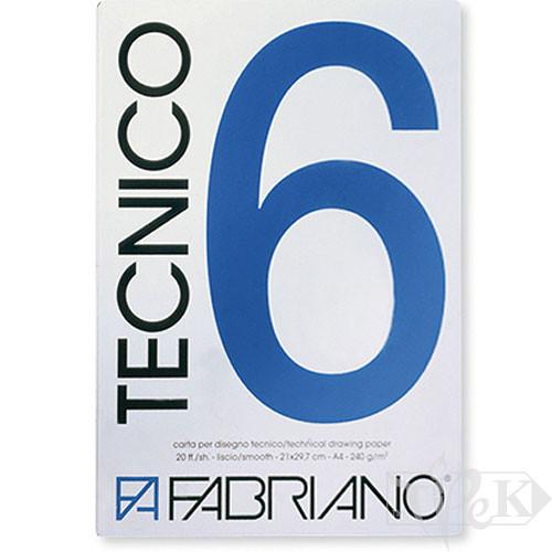09721297 Альбом для графіки Tecnico А4 (21х29,7 см) 220 г/м.кв. 20 аркушів Fabriano Італія