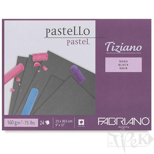 46723305 Альбом для пастелі Tiziano 23х30,5 см 160 г/м.кв. 24 аркуша nero Fabriano Італія
