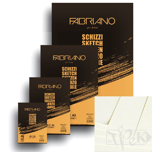 57721297 Блокнот для ескізів Schizzi А4 (21х29,7 см) 90 г/м.кв. 120 аркушів склейка Fabriano Італія