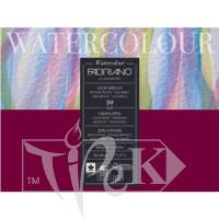 72611824 Альбом для акварелі Watercolour 18х24 см 200 г/м.кв. 20 аркушів склейка з 4 сторін Fabriano Італія