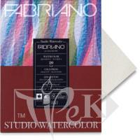 72612432 Альбом для акварели Watercolour 24х32 см 200 г/м.кв. 20 листов склейка с 4 сторон Fabriano Италия