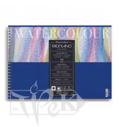 17662129 Альбом для акварелі Watercolour А4 (21х29,7 см) 300 г/м.кв. 12 аркушів на спіралі Fabriano Італія