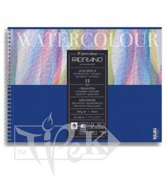 17662432 Альбом для акварели Watercolour 24х32 см 300 г/м.кв. 12 листов на спирали Fabriano Италия
