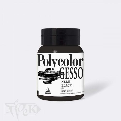 696 Грунт чорний Polycolor Gesso 500 мл допоміжні матеріали для акрилового живопису Maimeri Італія