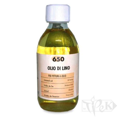 650 Олія лляна 500 мл допоміжні матеріали для олійного живопису Maimeri Італія
