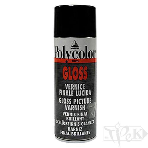 669 Лак покривний акриловий глянсовий Polycolor флакон з розпилювачем 400 мл допоміжні матеріали універсальні Maimeri Італія