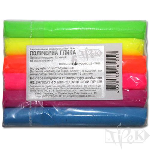 Набір полімерної глини 6 кольорів ФЦ по 17 г «Трек» Україна