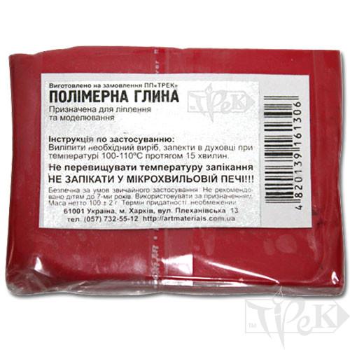 Полимерная глина красная (рубин) 100 г «Трек» Украина