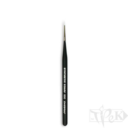 Кисточка Toray «Живопись» 1211 Синтетика круглая № 000 короткая ручка белый ворс