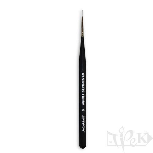 Кисточка Toray «Живопись» 1211 Синтетика круглая № 0 короткая ручка белый ворс