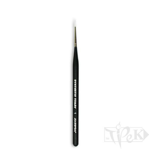 Кисточка Toray «Живопись» 1211 Синтетика круглая № 01 короткая ручка белый ворс