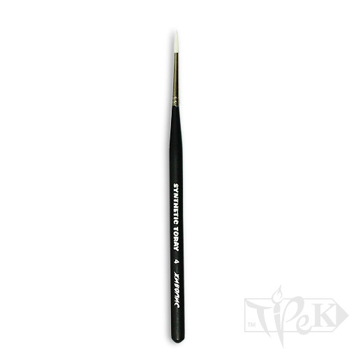 Кисточка Toray «Живопись» 1211 Синтетика круглая № 04 короткая ручка белый ворс