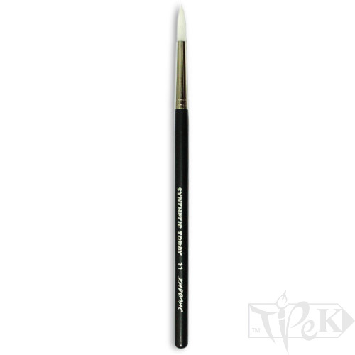 Кисточка Toray «Живопись» 1211 Синтетика круглая № 11 короткая ручка белый ворс