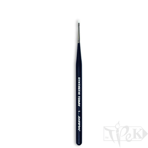 Кисточка Toray «Живопись» 1212 Синтетика плоская № 01 короткая ручка белый ворс