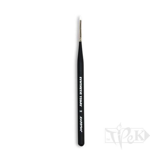 Кисточка Toray «Живопись» 1212 Синтетика плоская № 02 короткая ручка белый ворс