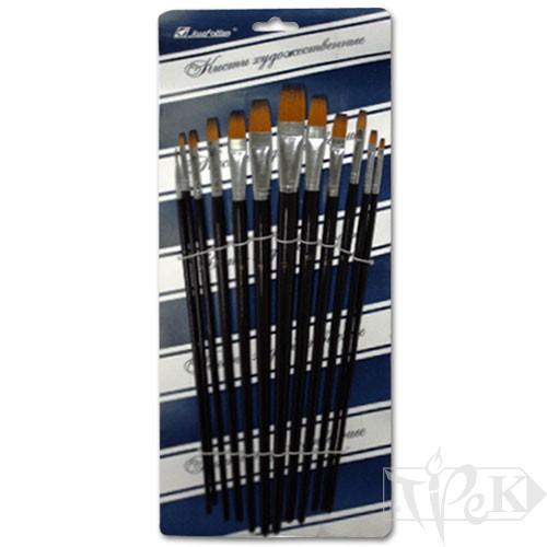 Набор кисточек «Josef Otten» 7456 Синтетика плоская 12 шт. длинная ручка