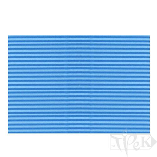 Картон цветной гофрированный Corru 824 bleu 50х70 см 300 г/м.кв. Fabriano Италия