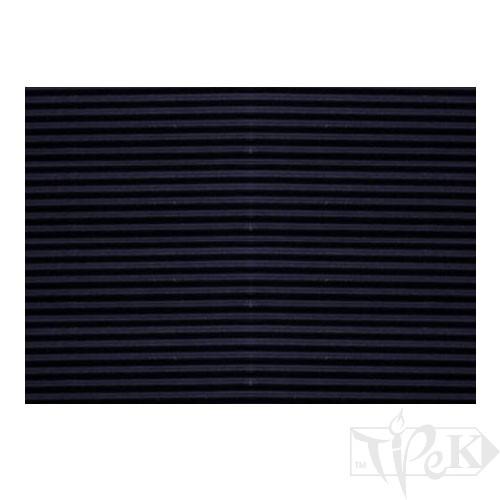 Картон цветной гофрированный Corru 913 nero 50х70 см 300 г/м.кв. Fabriano Италия
