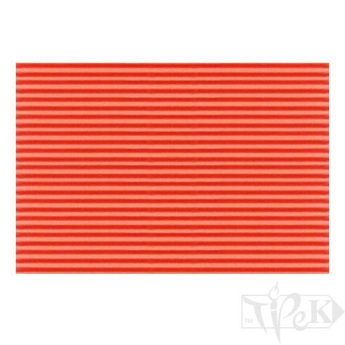 Картон цветной гофрированный Corru 915 arancio 50х70 см 300 г/м.кв. Fabriano Италия