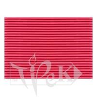 Картон цветной гофрированный Corru 916 rosso 50х70 см 300 г/м.кв. Fabriano Италия