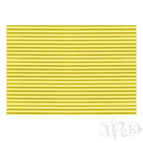 Картон кольоровий гофрований Corru 918 giallo 50х70 см 300 г/м.кв. Fabriano Італія