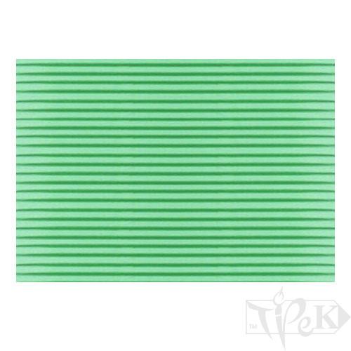 Картон цветной гофрированный Corru 919 verde 50х70 см 300 г/м.кв. Fabriano Италия