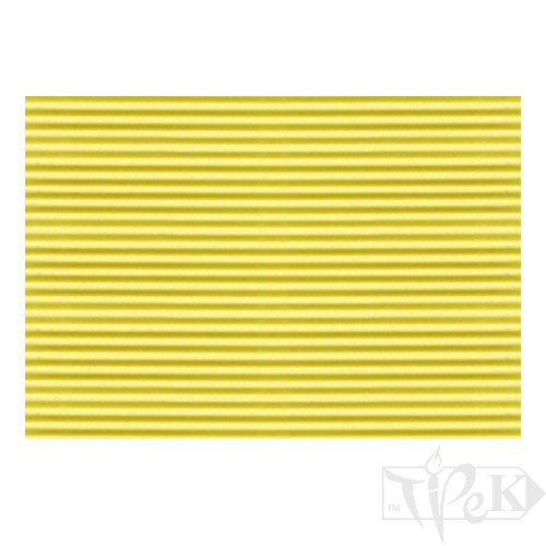 Картон цветной гофрированный Corru 918 giallo 20х30 см 300 г/м.кв. Fabriano Италия