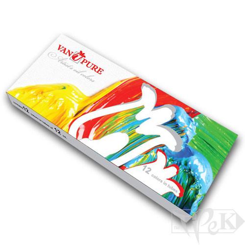 Набір олійних фарб 12 кольорів по 12 мл Van Pure