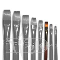 Кисточка «Живопись» 1112 Синтетика плоская № 06 длинная ручка рыжий ворс
