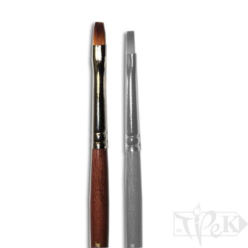 Пензлик «Живопис» 1122 Синтетика плоска № 02 коротка ручка рудий ворс