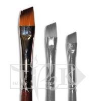 Кисточка «Живопись» 1123 Синтетика скошенная № 04 длинная ручка рыжий ворс