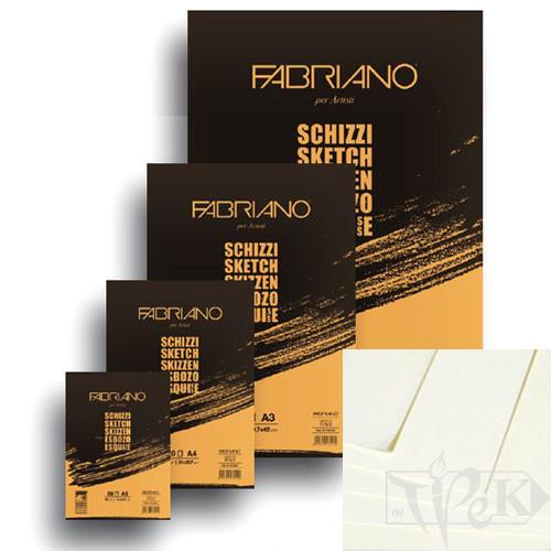57742594 Блокнот для ескізів Schizzi А2 (42х59,4 см) 90 г/м.кв. 60 аркушів склейка Fabriano Італія