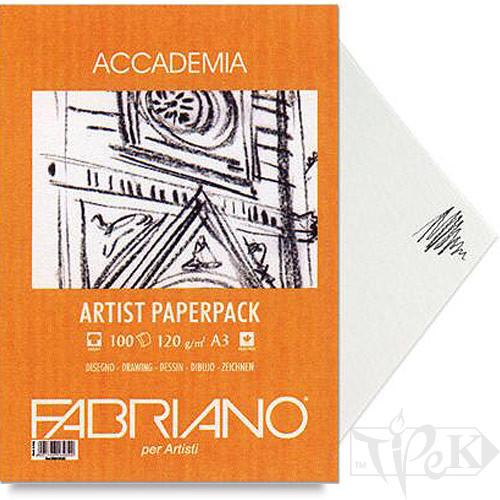 50814120 Папір для графіки Accademia А4 (21х29,7 см) 120 г/м.кв. 200 аркушів в упаковці Fabriano Італія