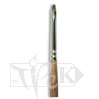 Кисточка «Живопись» 1123 Синтетика скошенная № 02/0 длинная ручка рыжий ворс