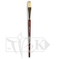 Кисточка «Живопись» 2112 Щетина плоская № 24 длинная ручка белый ворс