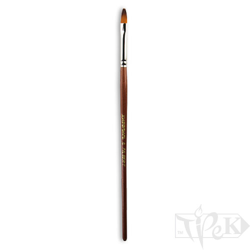 Пензлик «Живопис» 1124 Синтетика овальна № 06 коротка ручка рудий ворс