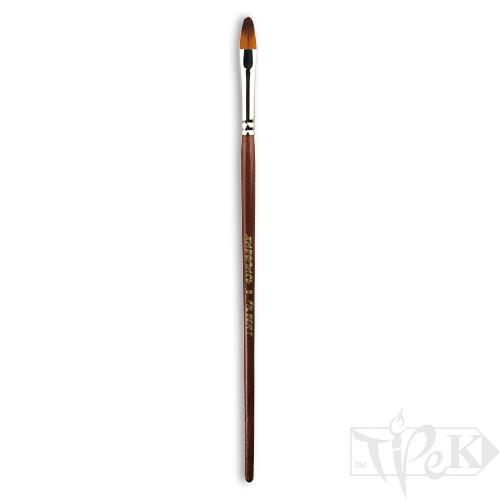 Кисточка «Живопись» 1124 Синтетика овальная № 08 короткая ручка рыжий ворс