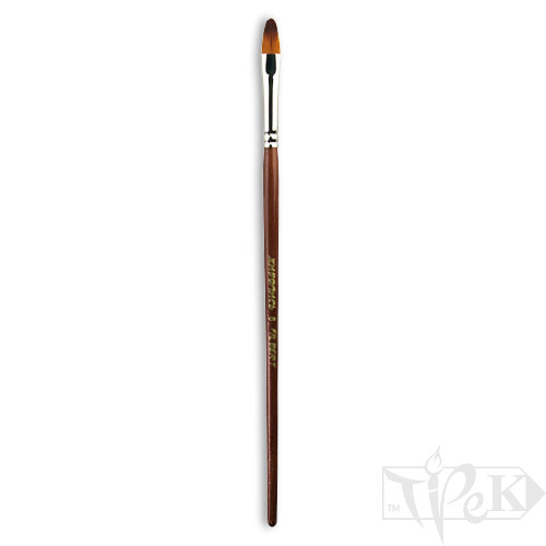 Пензлик «Живопис» 1124 Синтетика овальна № 08 коротка ручка рудий ворс