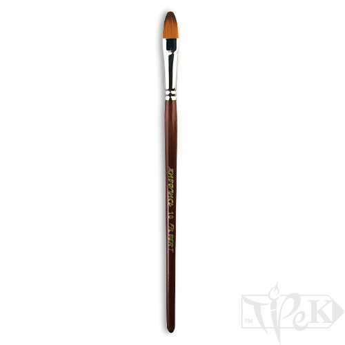 Пензлик «Живопис» 1124 Синтетика овальна № 10 коротка ручка рудий ворс