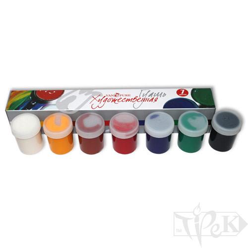 Набір гуашевих фарб 7 кольорів по 40 мл Van Pure