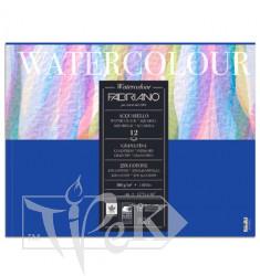 17312432 Альбом для акварелі Watercolour 24х32 см 300 г/м.кв. 12 аркушів склейка Fabriano Італія