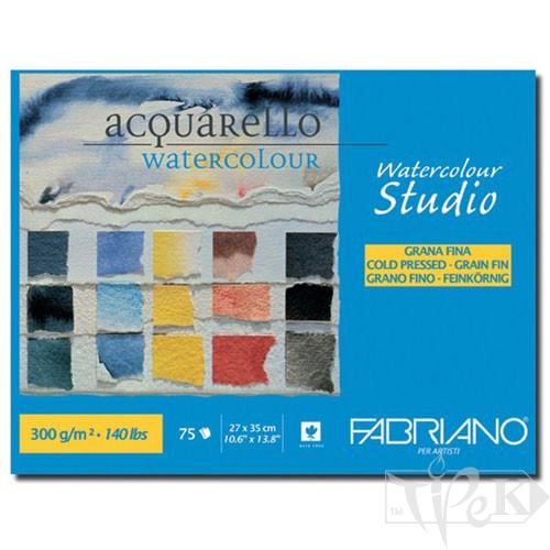 75302735 Альбом для акварели Watercolour Studio 27х35 см 300 г/м.кв. 75 листов склейка Fabriano Италия