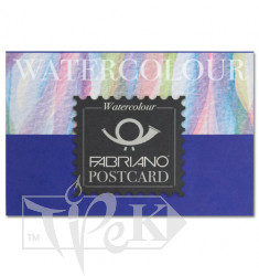 17105148 Альбом для акварелі Watercolour заготівля для листівок А6 (10,5х14,8 см) 300 г/м.кв. 20 аркушів склейка Fabriano Італія
