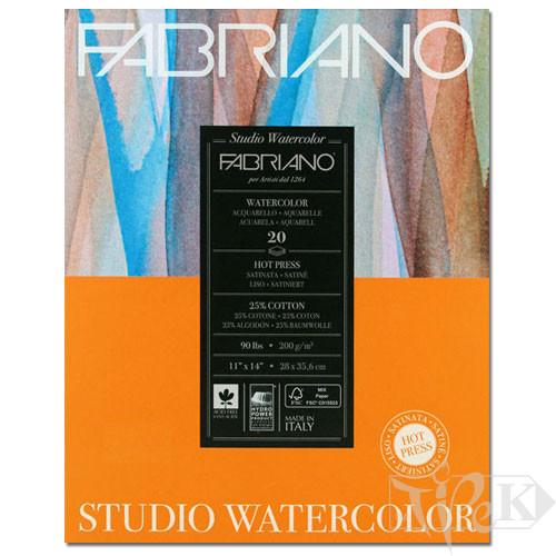 19202001 Альбом для акварели Studio 20,3х25,4 см 200 г/м.кв. 20 листов Fabriano Италия
