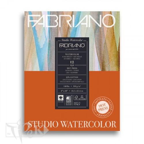 19123001 Альбом для акварелі Studio 20,3х25,4 см 300 г/м.кв. 12 аркушів Fabriano Італія