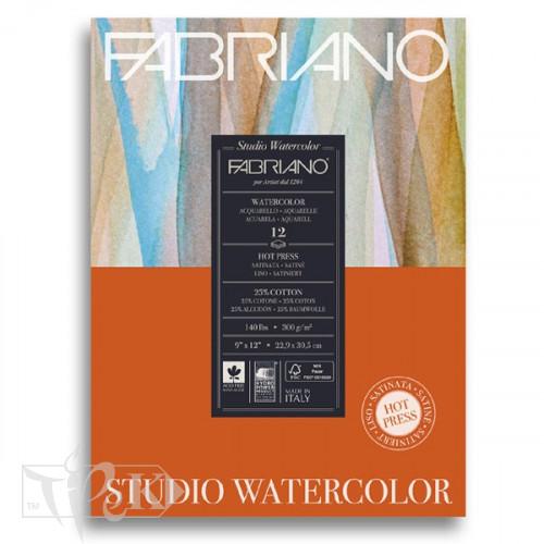 19123002 Альбом для акварелі Studio 22,9х30,5 см 300 г/м.кв. 12 аркушів Fabriano Італія