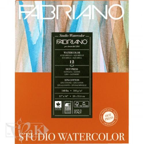 19123003 Альбом для акварелі Studio 28х35,6 см 300 г/м.кв. 12 аркушів Fabriano Італія