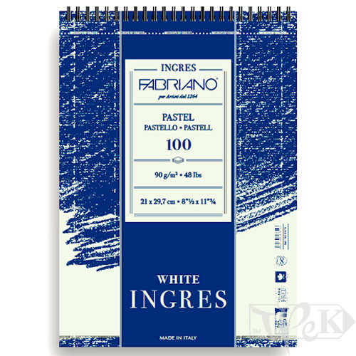 19212970 Альбом для пастели на спирали Ingres А4 (21х29,7 см) 90 г/м.кв. 100 листов Fabriano Италия